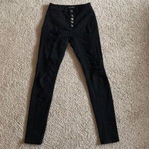 Black distress jeans